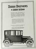 1919 Dodge Brothers Print Ad - 4 Door Sedan - May 1919