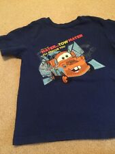 Boys Small 5/6 Disney Store Short Sleeve Top Gently Used Blue Cars Tow Mater