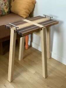 Oregon Handcraft Luxe Brass Handled Tray Table