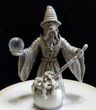 Spoontiques Mr970. Sorcerer Wizard. Cauldron Pot. Staff. Crystal. Miniture