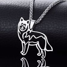 New Alaskan Malamute Husky Mal Mally Pet Dog Outline Tag Charm Pendant Necklace