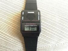 English Talking Wrist Watch w/Alarm blind visually impaired. 1 FREE BATTERY