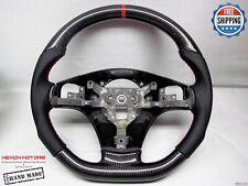 Chevrolet Corvette C6 Z06 Z1 Perf 8mm Red Ring Thick Carbon Steering Wheel V1