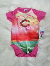 NFL Chicago Bears Baby pink bodysuit football 0-3 month one piece outfit girls