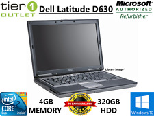 "Dell Latitude D630 - Core 2 Duo 4GB RAM 320GB HDD 14.1"" Rugged Windows 10 Laptop"