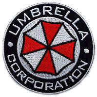 Resident Evil Umbrella Corporation Logo Badge Pin Patch- Iron on