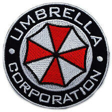 Velc.Resident Evil Umbrella Corporation Logo Badge Pin Patch velcro hook backing