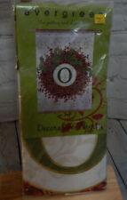 "Evergreen 29"" x 43"" Decorative Berry Wreath Monogram Flag-O"