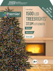 Premier 1500 LED Multi-Action TreeBrights Christmas Tree Lights Timer - RAINBOW