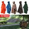 3 in 1 Raincoat Rainning Coat Hood Hiking Cycling Poncho Backpack Rain Cover