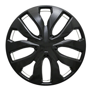 """Set of Four 17"""" Gloss Black Wheel Covers For 2014-19 Nissan Rogue"""