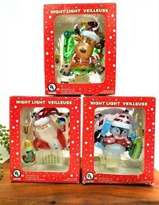 Night Light Veilleuse Christmas Reindeer Santa Penguin Wall Indoor Plug CHOOSE