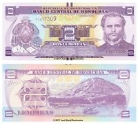 Honduras 2 Lempiras 2012 P-97 Banknotes UNC