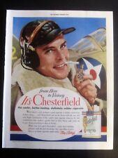 Pilot Chesterfield Cigarette WWII Ad