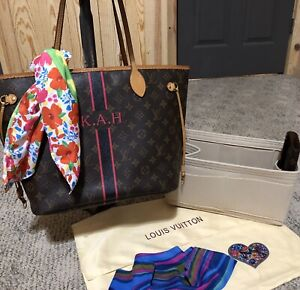 Louis Vuitton Monogram Neverfull MM Shoulder Tote  Fuchsia Dustbag Org + Extra