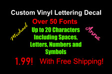 Custom text vinyl lettering decal personalized car window Truck SUV sticker