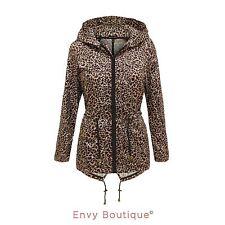 Zip Hip Length Raincoats for Women