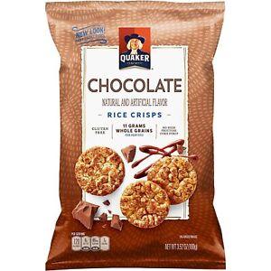 Quaker Rice Crisps Chocolate 3.53 oz Bag 6 Pack (3.53 oz) OR 3 (7 oz)