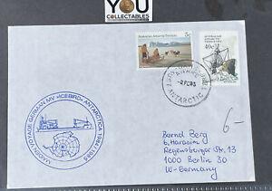 """1985 AUSTRALIA cover Maiden Voyage German mv """"Icebird"""" Antarctica - DAVIS"""