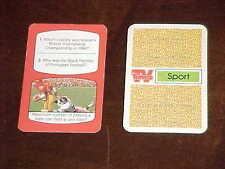1985 TV Times Sport English Issue Football Card USC Trojans v Kansas Jayhawks