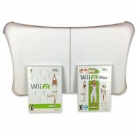 Nintendo Wii Workout Bundle w/ Balance Board, Wii Fit, Wii Fit Plus - Tested!