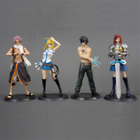 Fairy Tail SC Lucy Gray Erza Scarlet Etherious Natsu Dragneel Figure 4pcs Set