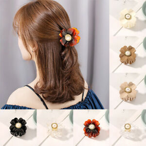 Ladies Big Flower Hair Claw Clips Clamps Large Hairpin Women Accessories Party