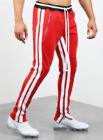Herren Casual Sport Lange Hose Jogger Jogginghose Streifen schlank Modehose