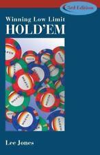 Winning Low Limit Hold'em by Lee Jones Brand New Poker Gambling Betting