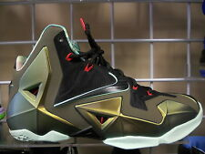 NIKE LEBRON 11'S SIZE 9.5 SNEAKERS AUTHENTIC 9.5/10  KING'S PRIDE PARACHUTE GOLD