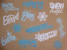 Winter Christmas Snow  words scrapbooking die cuts greeting card die cut
