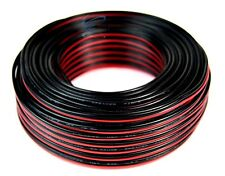 20 GA Gauge 100' FT Red Black Power Ground Speaker Wire Copper Clad Aluminum CCA