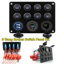 Multifunction RV Car Truck Boat Marine Control 8 Gang Rocker Switch Panel Kit