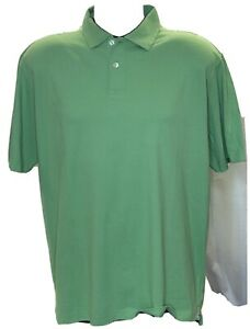 Peter Millar Seaside Wash Men's Large Green Short Sleeve Golf Polo