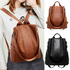 Women Fashion Backpack Purse Waterproof Anti-theft PU  School Bag 34