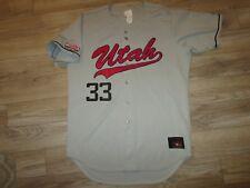 Utah Utes #33 Baseball Team Mountain West Game Worn Used Rawlings Jersey 44