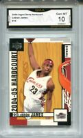 2004 Lebron James Upper Deck Hardcourt 2nd Year Card Gem Mint 10 #15
