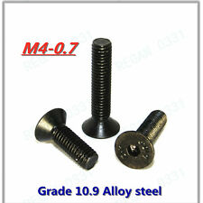 M4-0.7 10.9 Black Alloy Steel Allen Hex Socket Countersunk Flat Head Screws Bolt