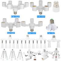 6/5/4/3/2in1 E27 LED Light Lamp Bulb Holder Converter Adapter Socket Splitter