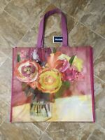 NEW Marshalls Shopping Bag Blue Green Tropical Leaves Large Reusable Travel Tote