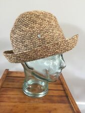 ec4c8cee66607 Helen Kaminski Australia Rollable Raffia Crochet Wide Brim Hat