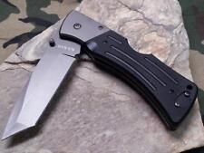 Ka Bar Mule Lockback Folding Knife Heavy Duty Plain Edge Tanto Black G10 3064