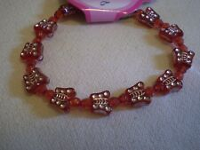Red Butterfly Bead Bracelet - PH116