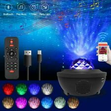 LED Starry Night Sky Projector Light Ocean Wave Star Party Speaker Lamp Remote