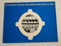 Pittsburgh PA 1968 Three Rivers Stadium Groundbreaking Brochure Steelers Pirates