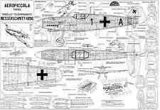 Aeropiccola ME BF 109 G Scala Linea Di Controllo Piano