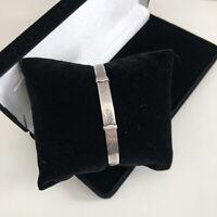 Vintage Sterling Silver 925 Bangle Bracelet Expanding 1969 Hallmark Boho HG&S