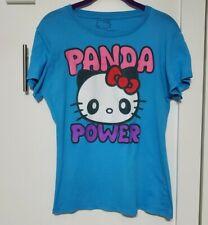 MIGHTY FINE Sanrio Hello Kitty Graphic PANDA POWER t-shirt top Juniors LARGE