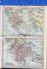 Ancient & Modern (c1900) Greece - Map Prints -- 1907