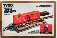 TYCO FREIGHT UNLOADING BOX CAR  Remote Control  BURLINGTON   # 930  NEW SEALED!